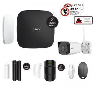 AJAX HUBKIT met UNV 2MP mini bullit wifi camera