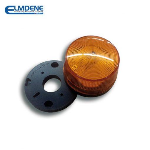 Flitslicht 12 V DC Amber lenskap incl. montageplaat