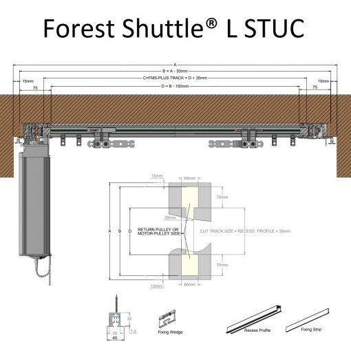 Forest Shuttle inbouw stuc profiel type L
