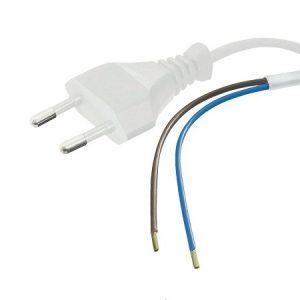 Netsnoer, stroom aansluitkabel 230V 2 meter WIT