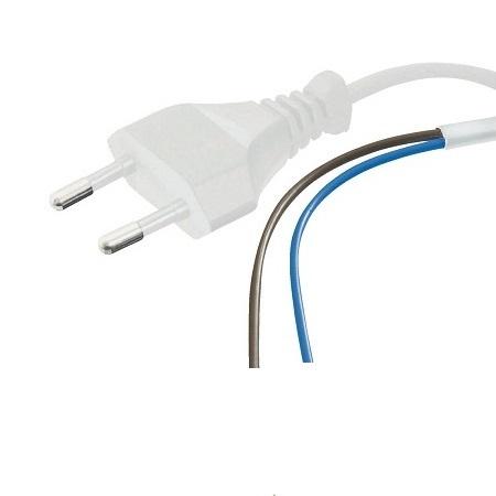 Netsnoer, stroom aansluitkabel 230V 1.5 meter WIT