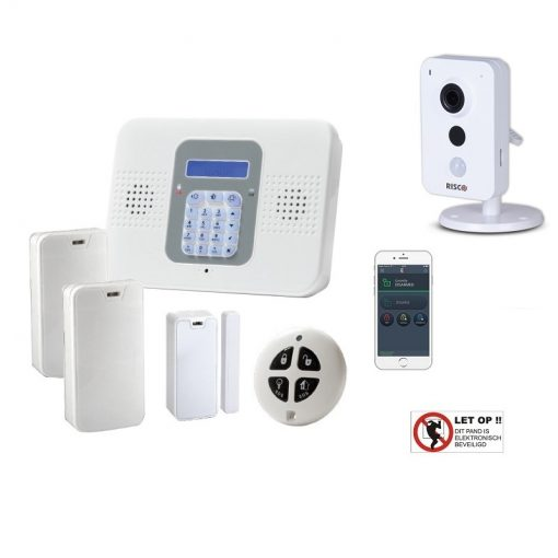 Electronics-Line SecuPlace WiFi DHZ alarmsysteem – met VUpoint P2P HD cube camera
