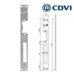 CDVI Dubbele voorplaat RVS voor symmetrische sluitplaten T2/98