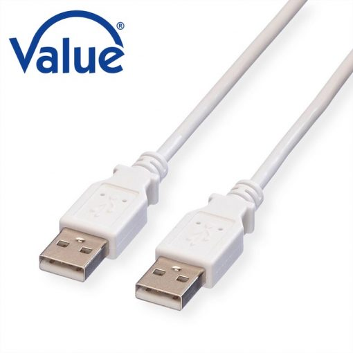 VALUE USB 2.0 kabel A – A M/M wit 3 M