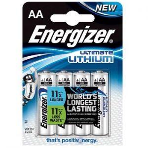 4x AA Energizer Lithium batterijen L91
