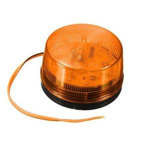 Oranje LED flitslamp 12Vdc incl. voedingsadapter