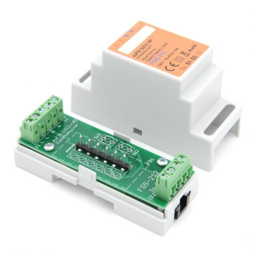 euFIX S214 DIN-rail behuizing voor Fibaro FIB-FGS-214 Single Smart Module