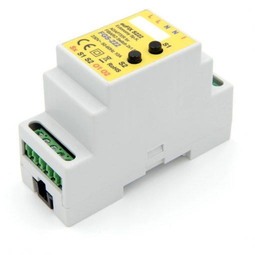 euFIX S222 DIN-rail behuizing voor Fibaro FIB-FGS-222 Schakelaar micro module dubbel