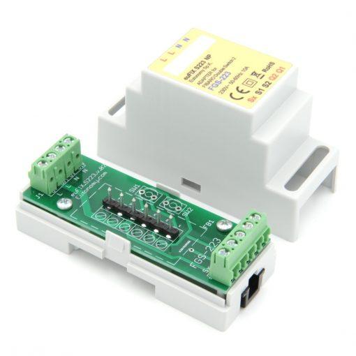 euFIX S223 DIN-rail behuizing voor Fibaro FIB-FGS-223 Schakelaar micro module dubbel Z-wave+