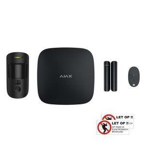 AJAX StarterKit 2 met PirCam (zwart)