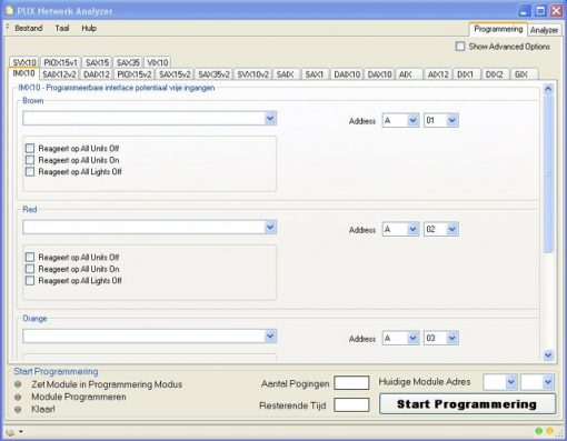PMIX35 Programmeerunit / meetinterface (Xanura)