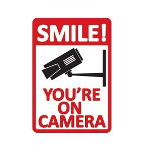 Sticker Smile youre on Camera